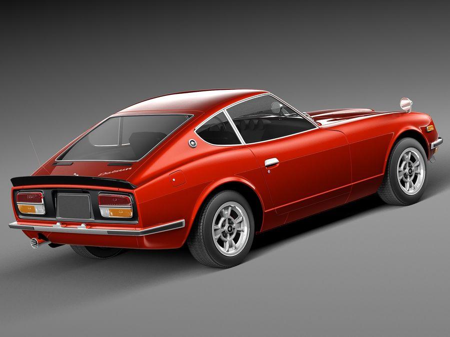 Datsun 240z 1969–1978 royalty-free 3d model - Preview no. 5