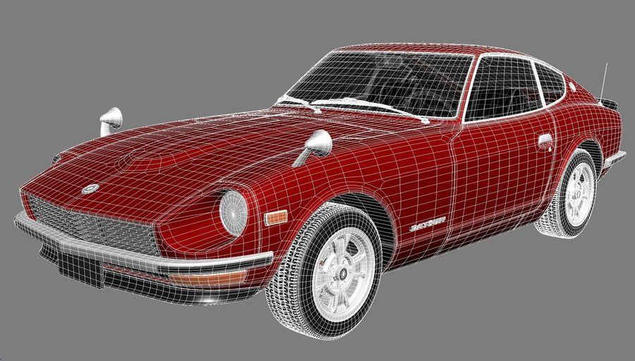 Datsun 240z 1969–1978 royalty-free 3d model - Preview no. 13