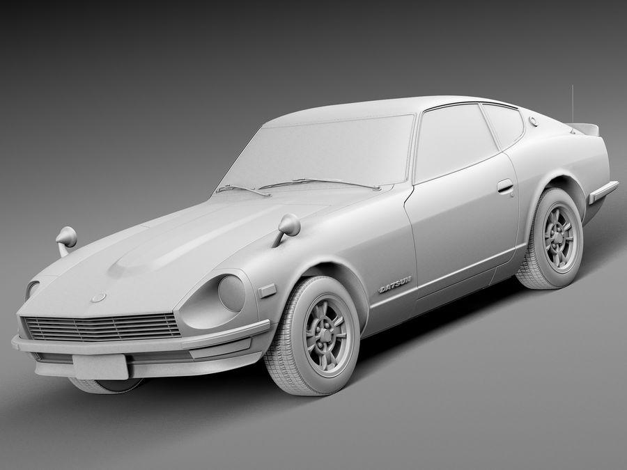 Datsun 240z 1969–1978 royalty-free 3d model - Preview no. 9