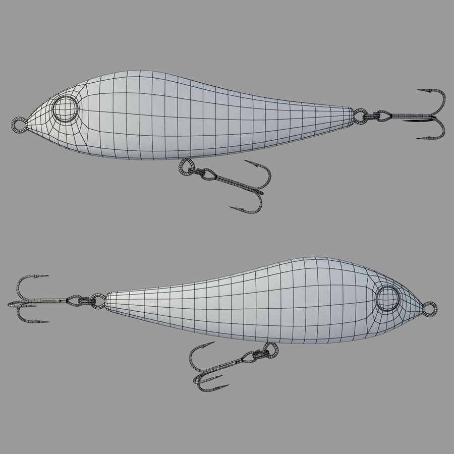 Fishing Lure 01 royalty-free 3d model - Preview no. 3