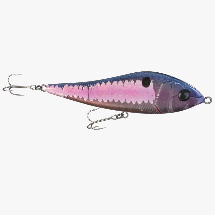 Fishing Lure 01 royalty-free 3d model - Preview no. 9