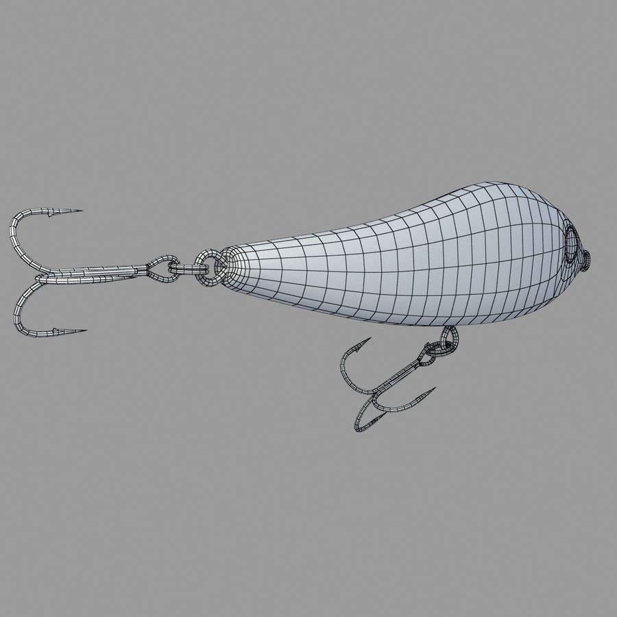 Fishing Lure 01 royalty-free 3d model - Preview no. 15