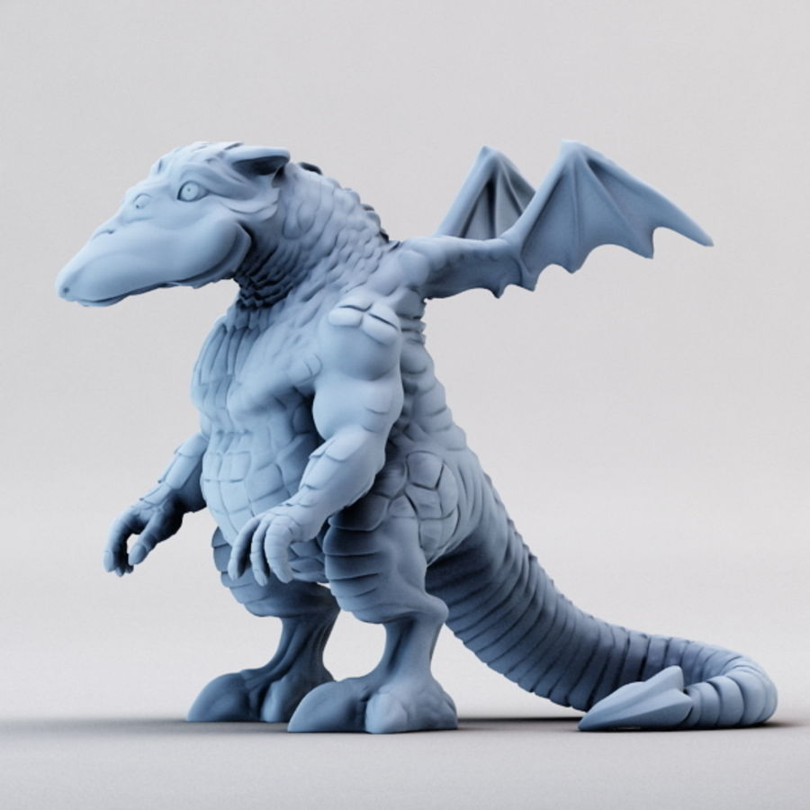Dragon 3D Printable royalty-free 3d model - Preview no. 7