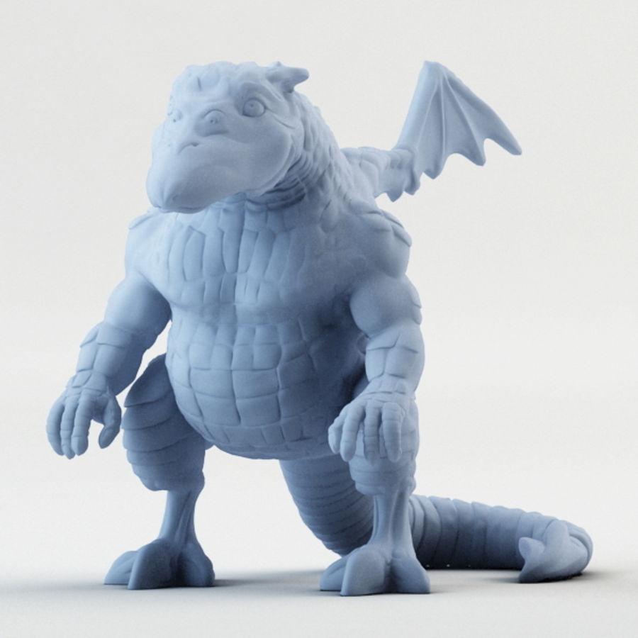 Dragon 3D Printable royalty-free 3d model - Preview no. 6