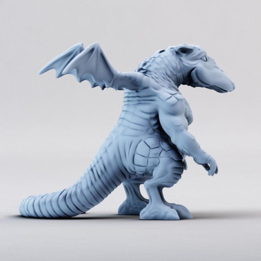 Dragon 3D Printable royalty-free 3d model - Preview no. 8