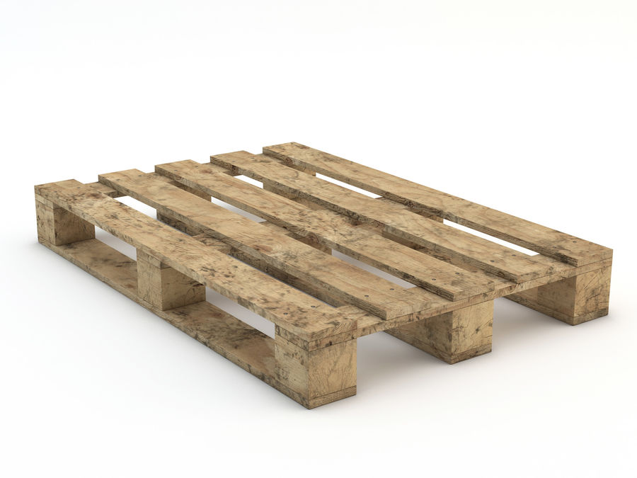 Pallet and Breeze Block royalty-free 3d model - Preview no. 12