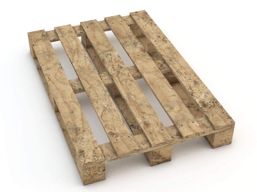 Pallet and Breeze Block royalty-free 3d model - Preview no. 13