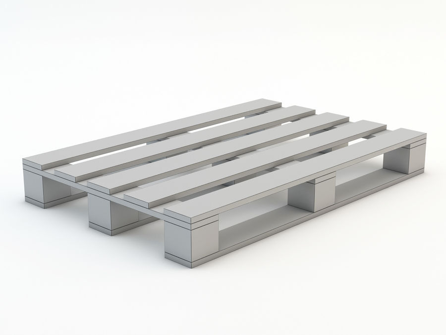 Pallet and Breeze Block royalty-free 3d model - Preview no. 15