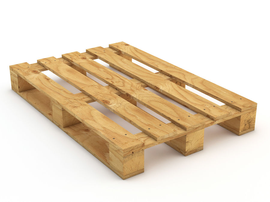 Pallet and Breeze Block royalty-free 3d model - Preview no. 9