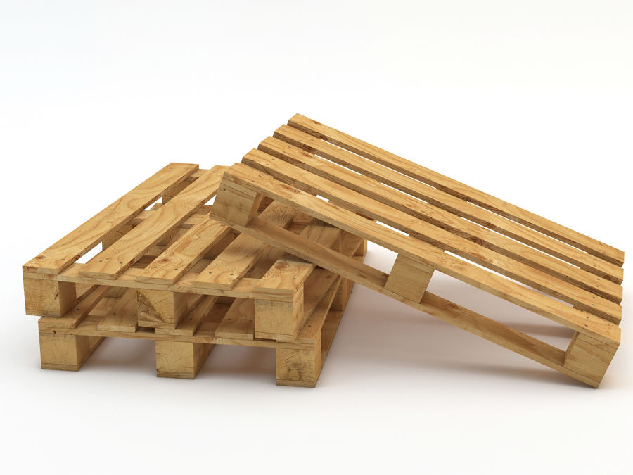 Pallet and Breeze Block royalty-free 3d model - Preview no. 8