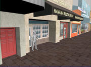 Little Havana city block - Maya and OBJ formats 3d model