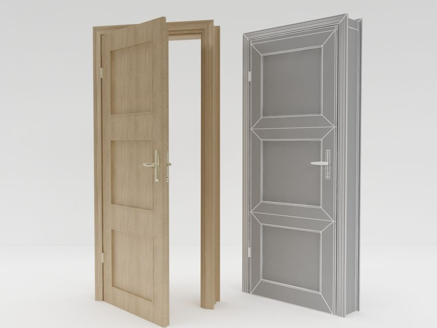 door,architecture royalty-free 3d model - Preview no. 2