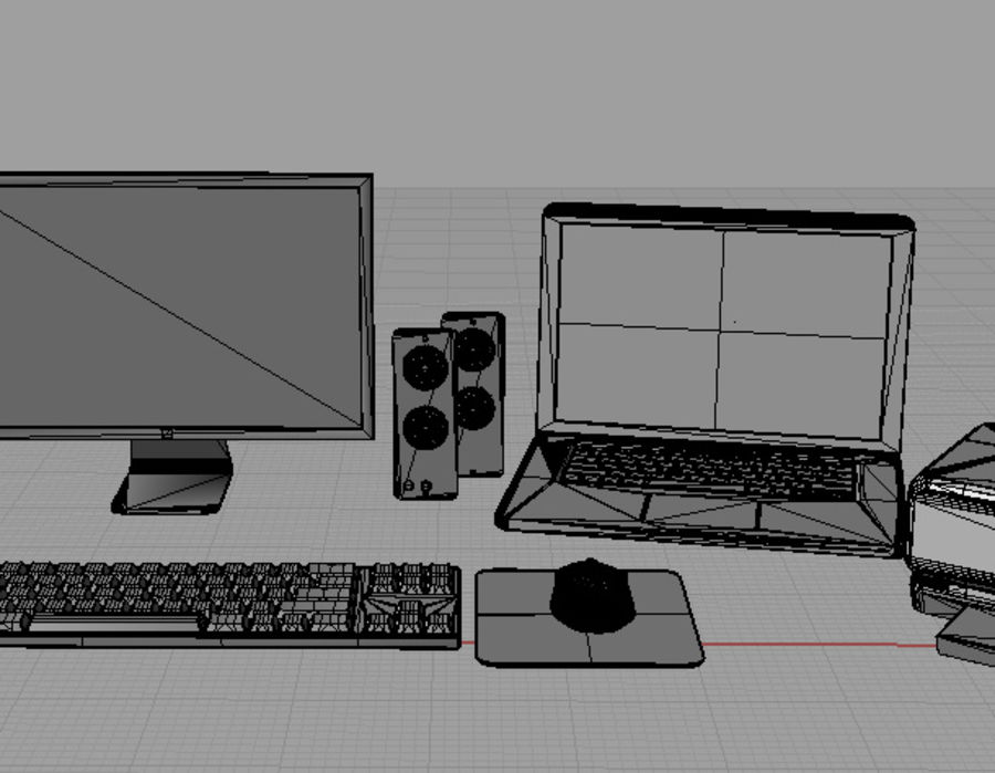 computer system full set royalty-free 3d model - Preview no. 6