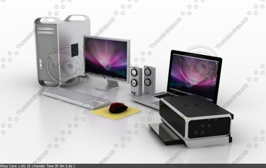 computer system full set royalty-free 3d model - Preview no. 2