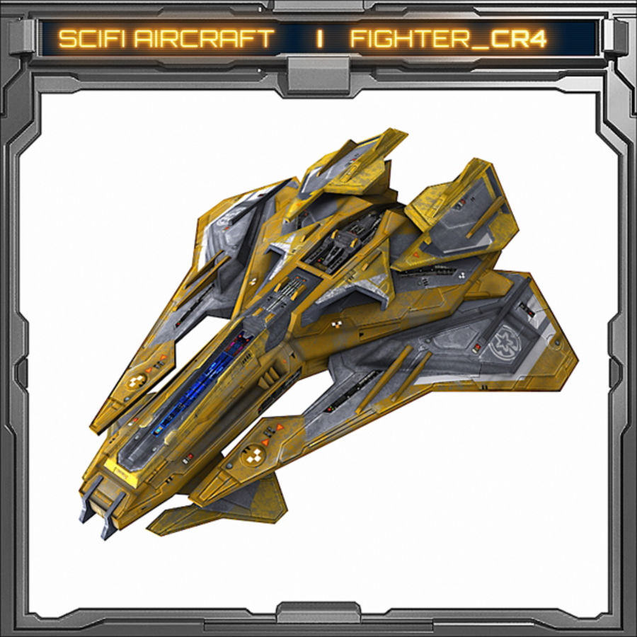 SciFi_CR4 royalty-free 3d model - Preview no. 1
