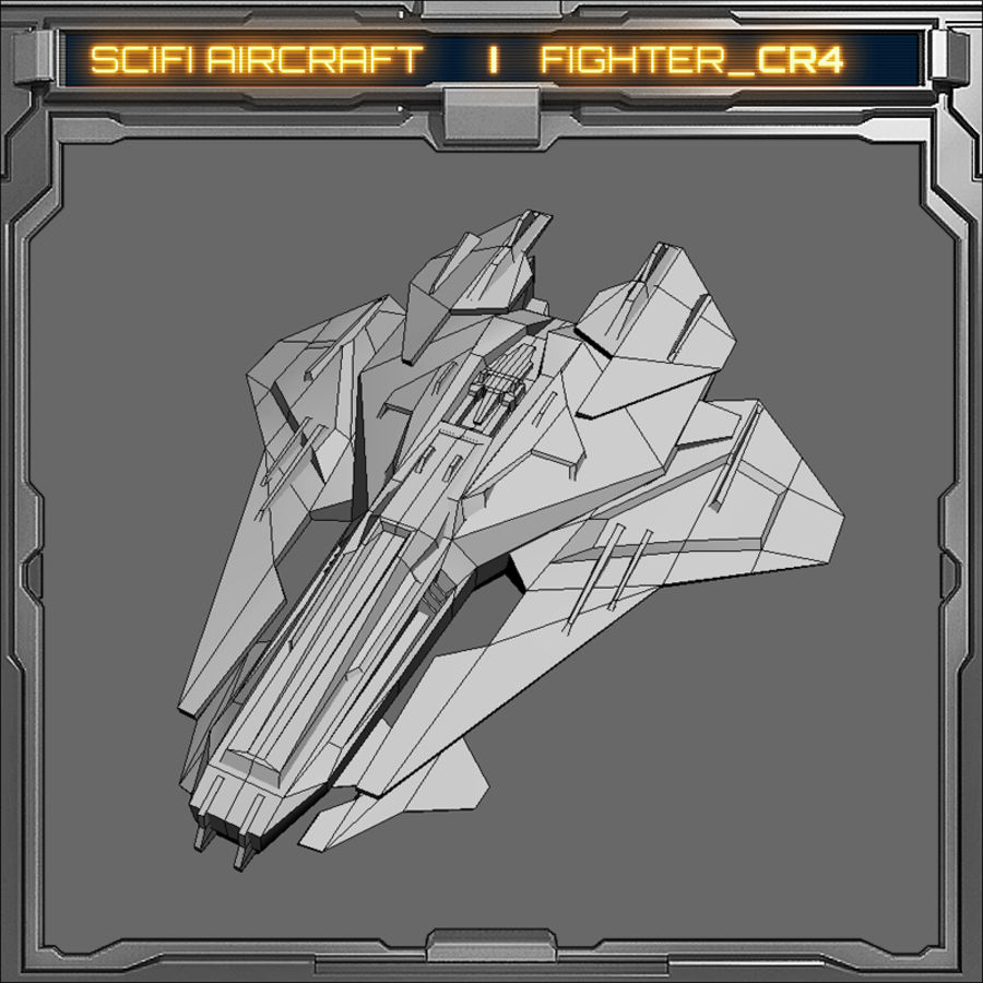 SciFi_CR4 royalty-free 3d model - Preview no. 7