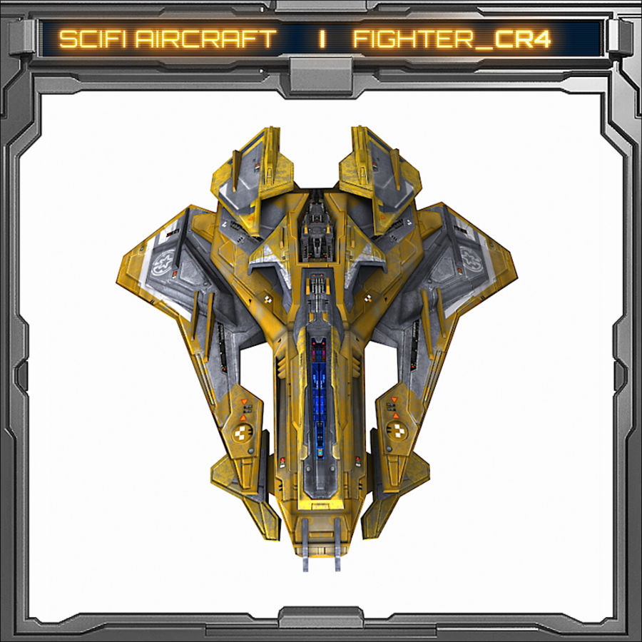 SciFi_CR4 royalty-free 3d model - Preview no. 3