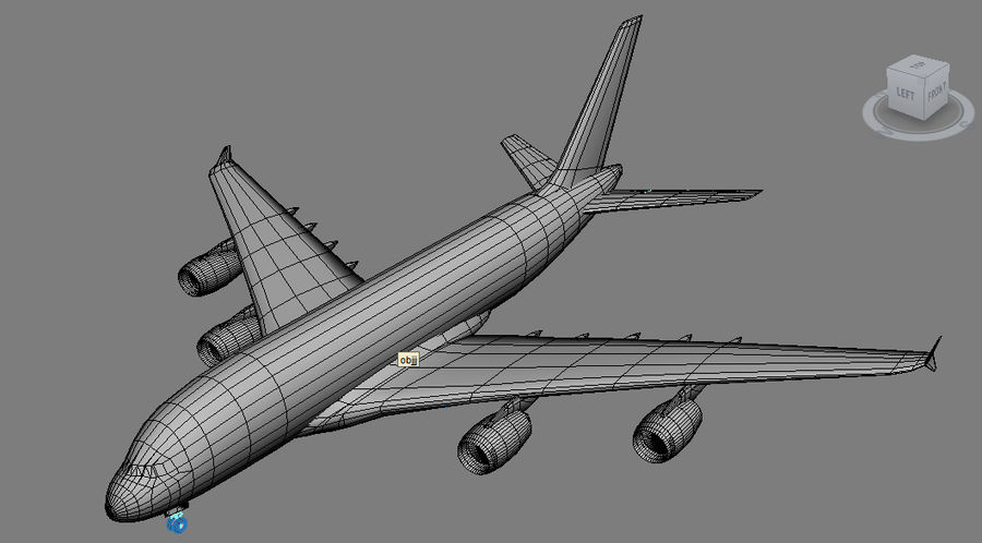 Airbus A380 Singapure Airlines royalty-free 3d model - Preview no. 4