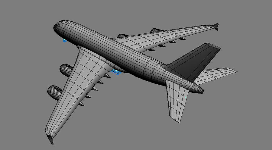 Airbus A380 Singapure Airlines royalty-free 3d model - Preview no. 6