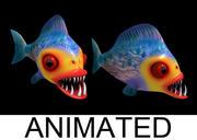 Pirania fish 3d model