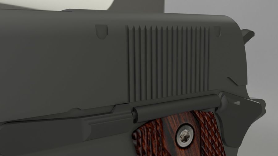 colt 1911 pistol royalty-free 3d model - Preview no. 2