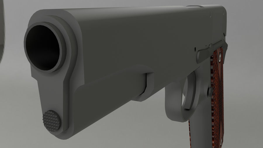 colt 1911 pistol royalty-free 3d model - Preview no. 4