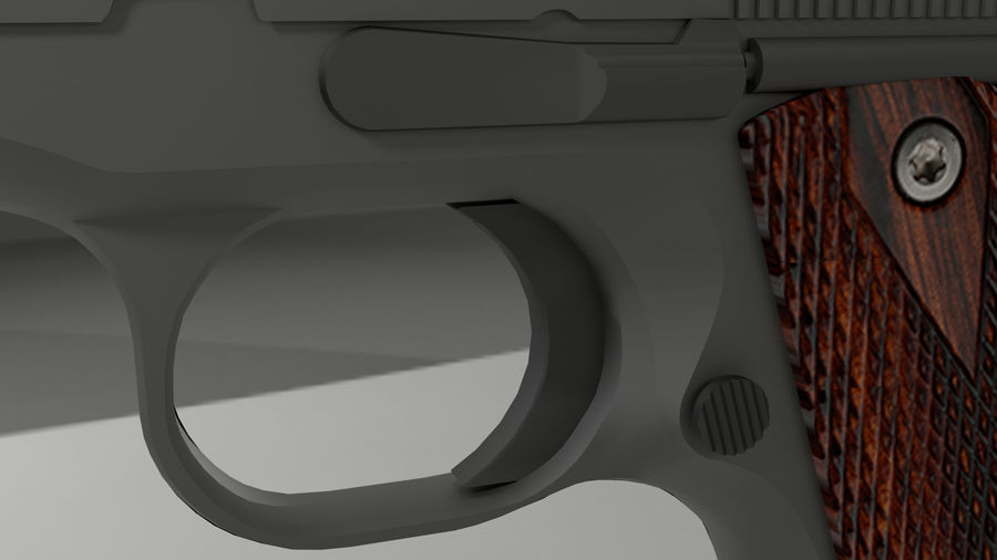 colt 1911 pistol royalty-free 3d model - Preview no. 3