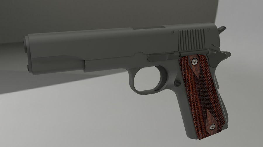 colt 1911 pistol royalty-free 3d model - Preview no. 1