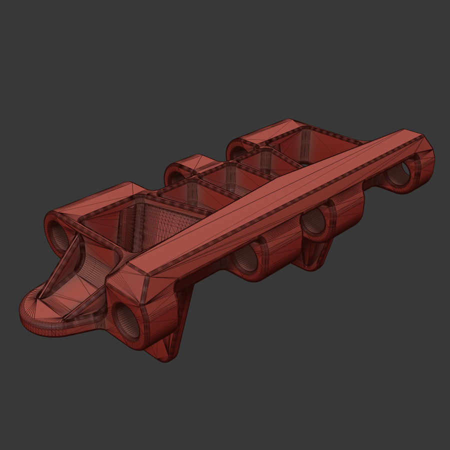 Track link - Hetzer royalty-free 3d model - Preview no. 6