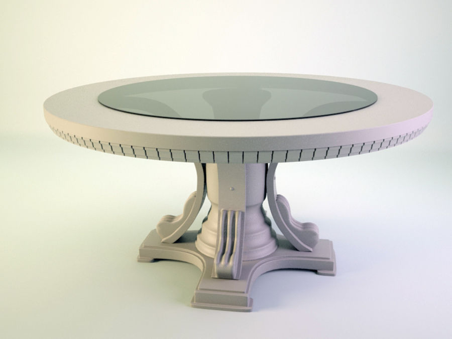The round table royalty-free 3d model - Preview no. 4