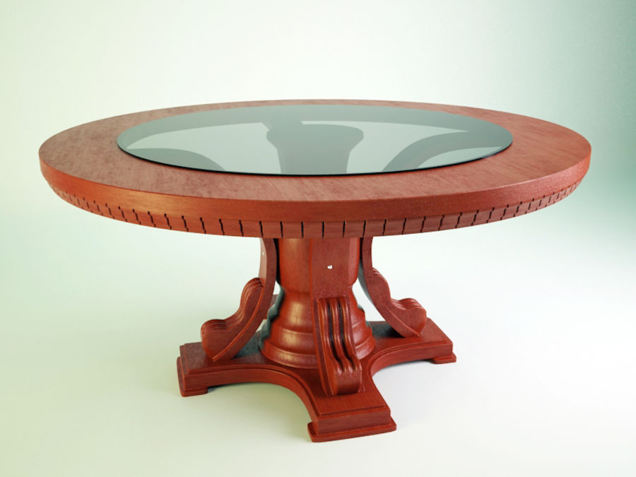 The round table royalty-free 3d model - Preview no. 1
