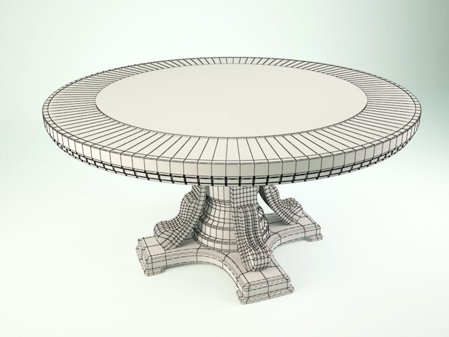 The round table royalty-free 3d model - Preview no. 5