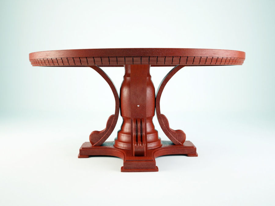 The round table royalty-free 3d model - Preview no. 3
