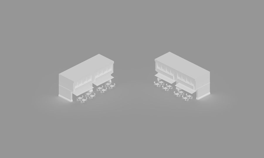 Prata House royalty-free 3d model - Preview no. 1
