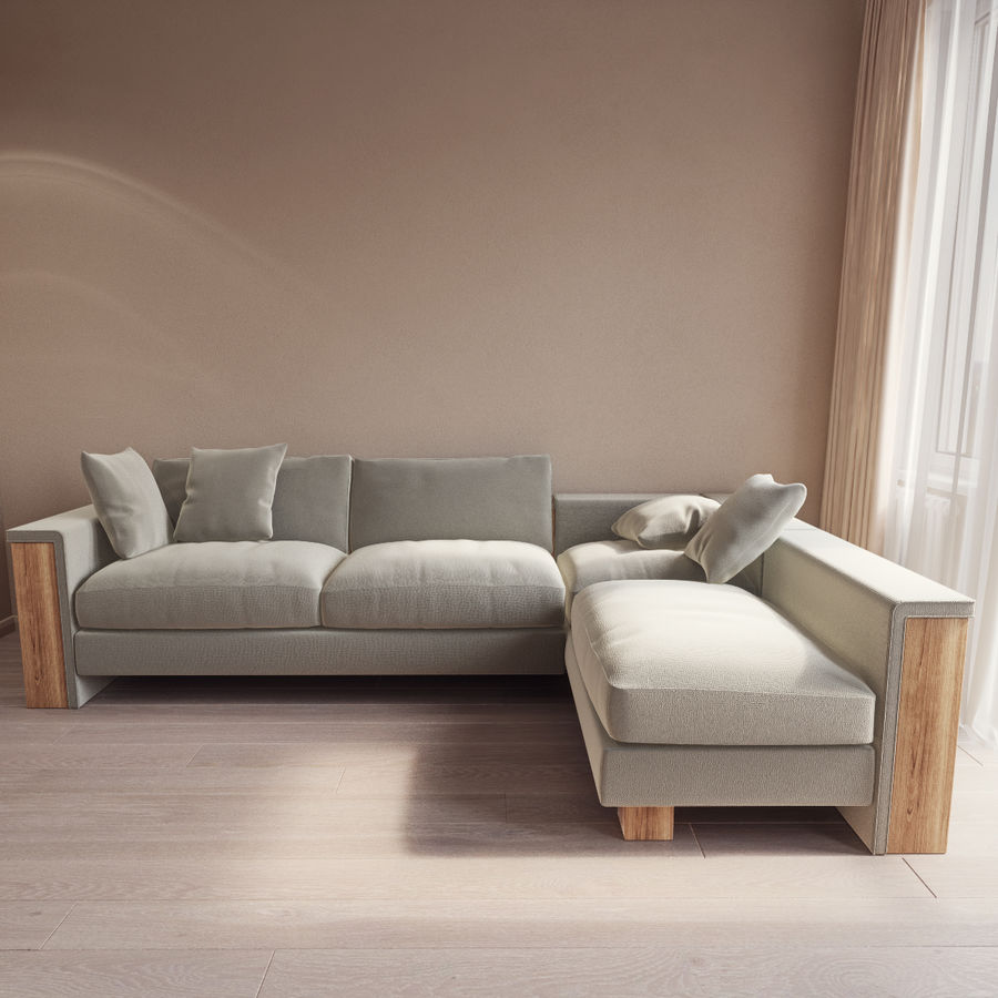 FrommHolz Montana corner sofa royalty-free 3d model - Preview no. 1