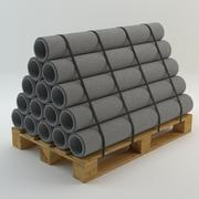 Pallet and Pipes 3d model
