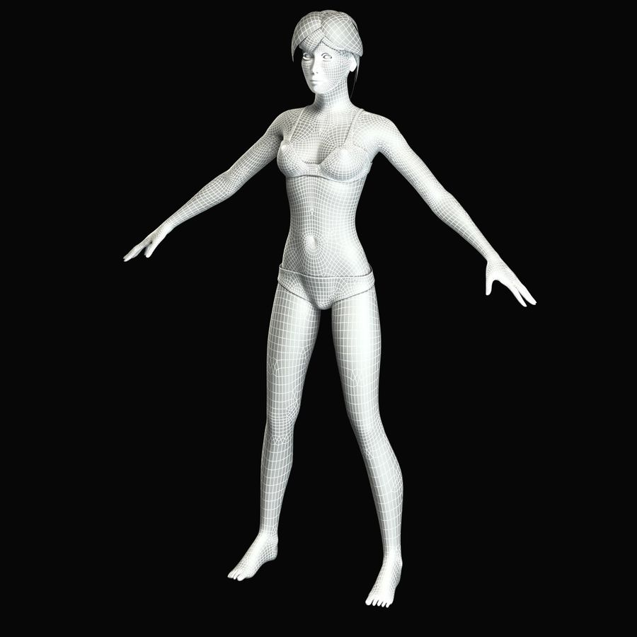 Kvinna Anatomi royalty-free 3d model - Preview no. 18