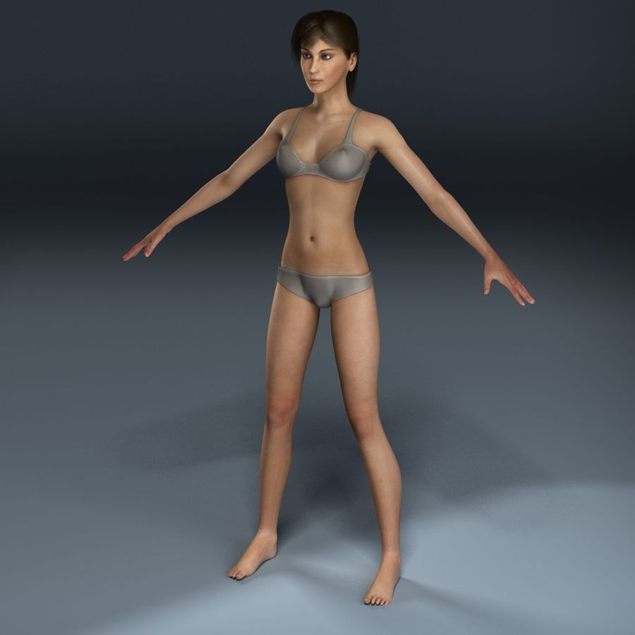 Kvinna Anatomi royalty-free 3d model - Preview no. 4