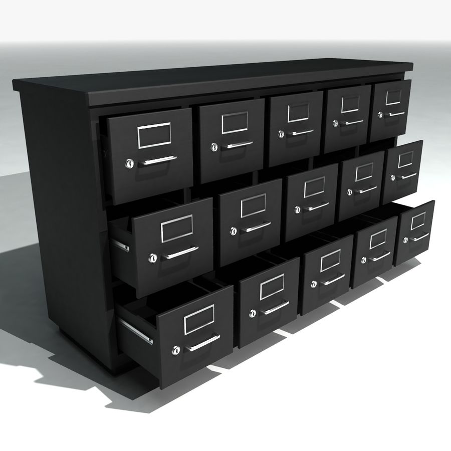 Superbe Short Metal Filing Cabinet Royalty Free 3d Model   Preview No. 1