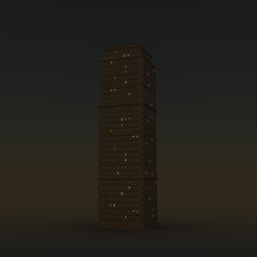 Skyscraper 03 - Day And Night royalty-free 3d model - Preview no. 13