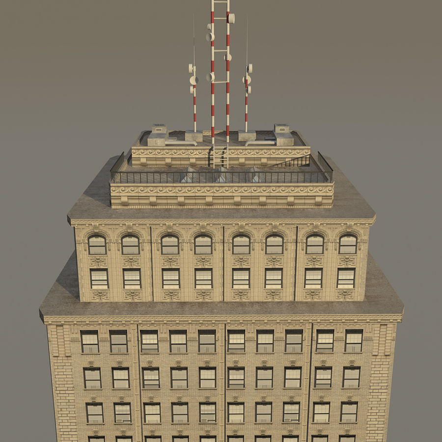 Skyscraper 03 - Day And Night royalty-free 3d model - Preview no. 10