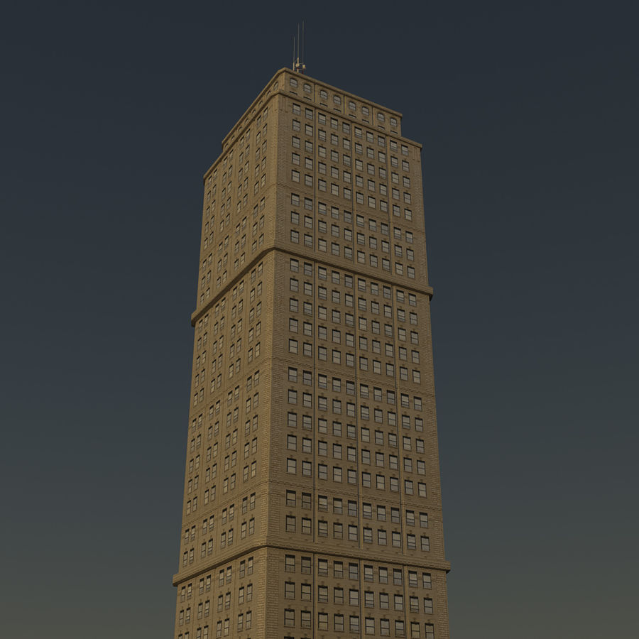 Skyscraper 03 - Day And Night royalty-free 3d model - Preview no. 7