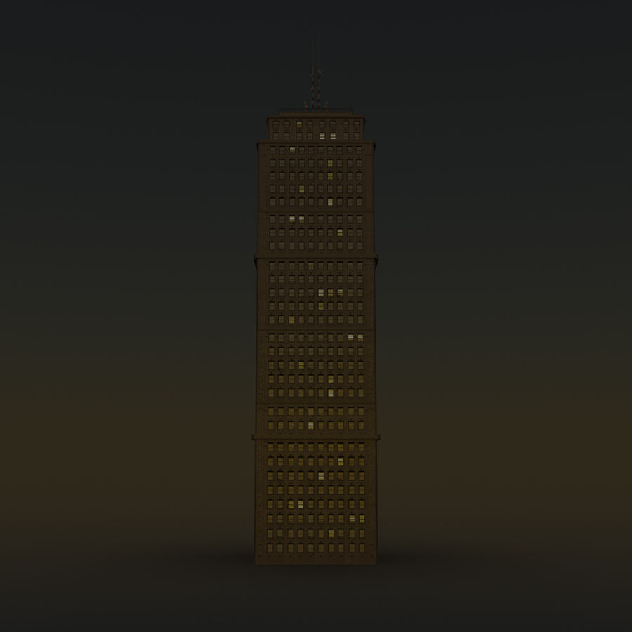 Skyscraper 03 - Day And Night royalty-free 3d model - Preview no. 14