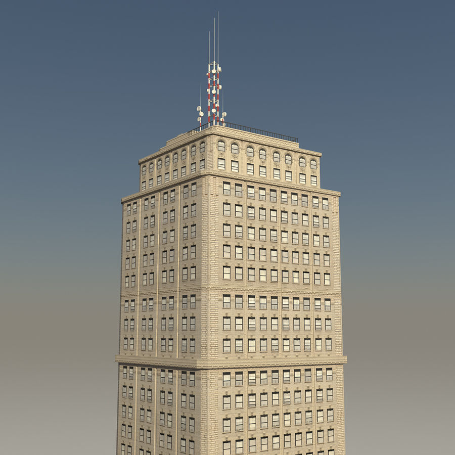 Skyscraper 03 - Day And Night royalty-free 3d model - Preview no. 3