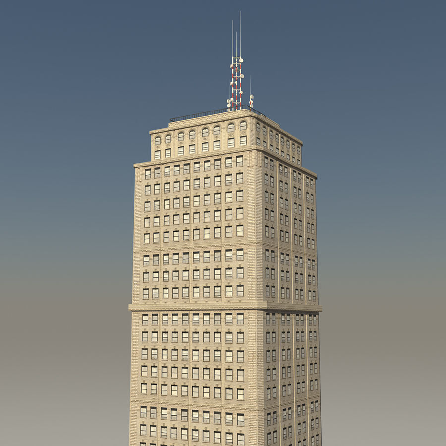 Skyscraper 03 - Day And Night royalty-free 3d model - Preview no. 4