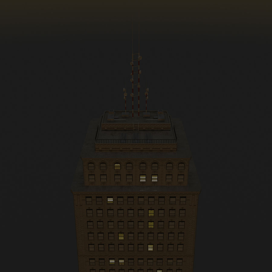 Skyscraper 03 - Day And Night royalty-free 3d model - Preview no. 16
