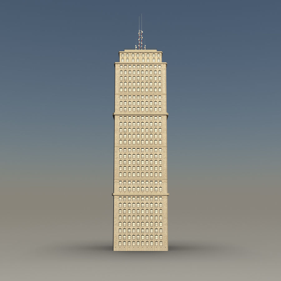 Skyscraper 03 - Day And Night royalty-free 3d model - Preview no. 2
