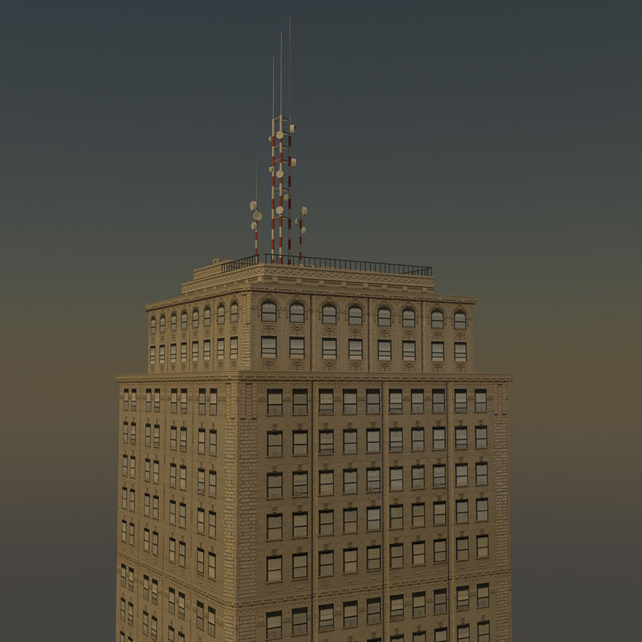 Skyscraper 03 - Day And Night royalty-free 3d model - Preview no. 8
