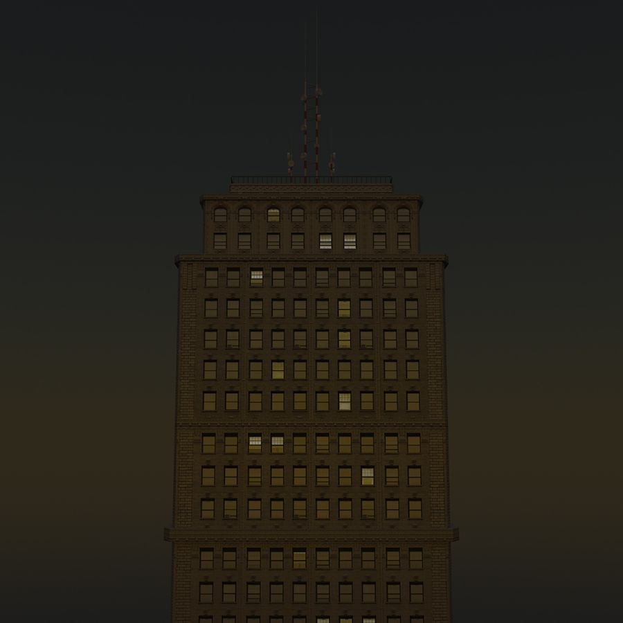 Skyscraper 03 - Day And Night royalty-free 3d model - Preview no. 15