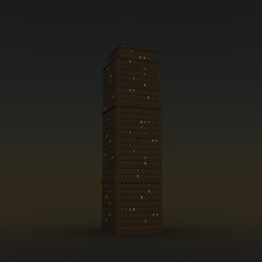 Skyscraper 03 - Day And Night royalty-free 3d model - Preview no. 12